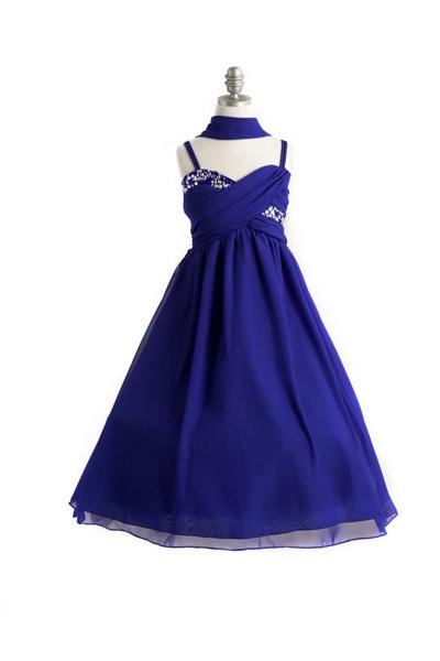 holiday dress royal blue