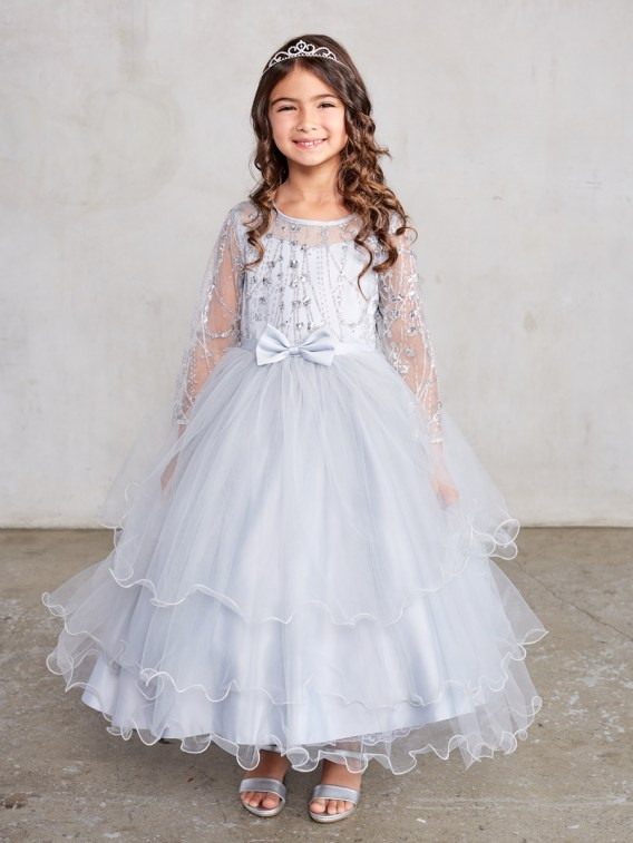 girls silver dress