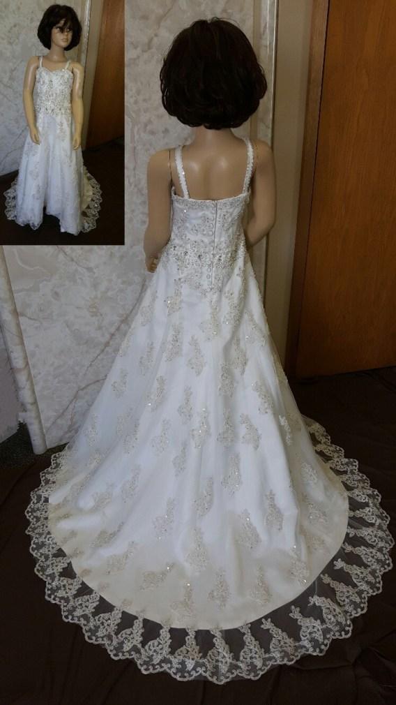 beaded flower girl dress