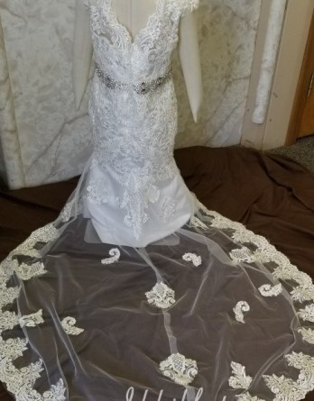 match to the brides dress
