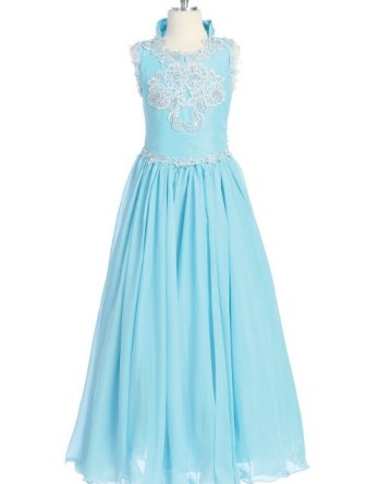 Turquoise pageant dress for sale at $40.00.