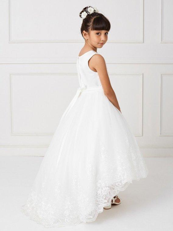 ivory lace flower girl dresses