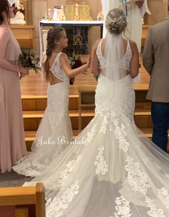 Flower girl dresses with open back