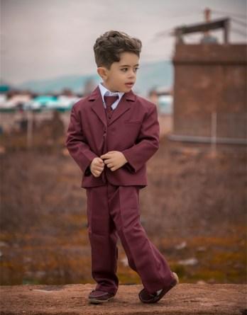 boys burgundy suit