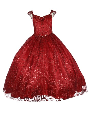 little girl red formal dress