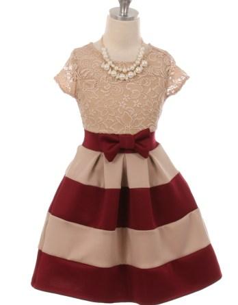 burgundy color block skirt dress