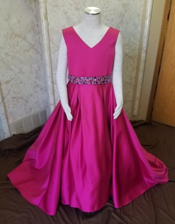 pink girl pageant dresses