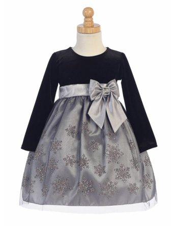 black and silver velvet christmas dress