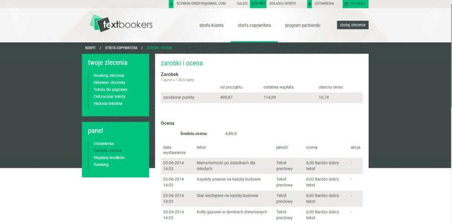 Copywriter Szymon Owedyk na platformie copywriterskiej textbookers