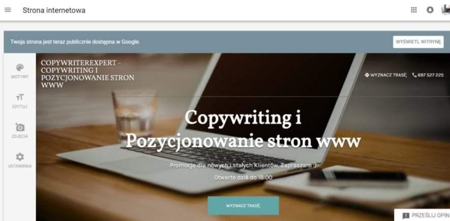 Strona www w google firma