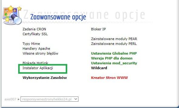 Poprawna instalacja wordpress w direct admin