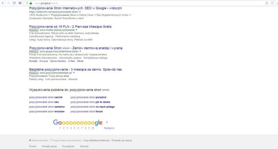 jak dobrać słowa kluczowe przez wyszukiwarkę Google