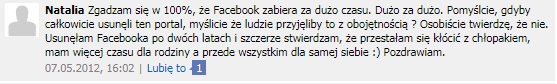 Natalia wyjaśnia dlaczego usunęła konto na Facebooku