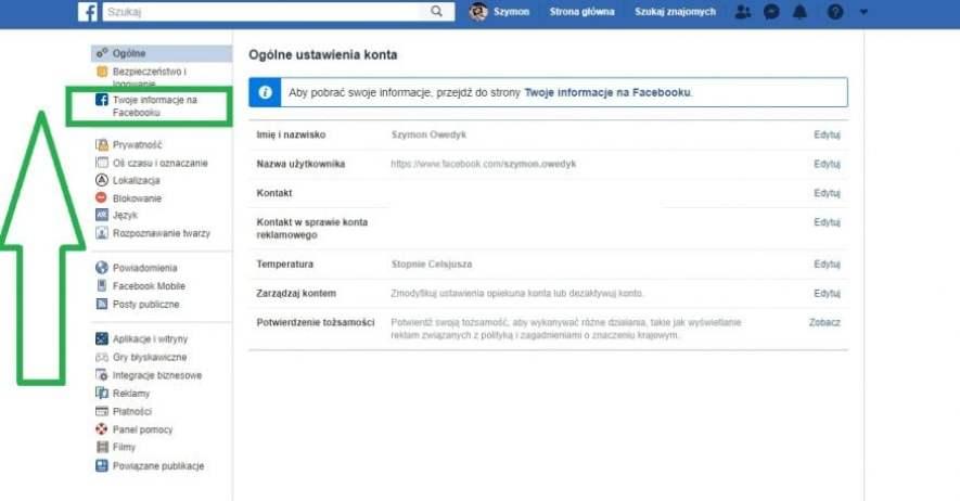 usunięcie konta na fB 2