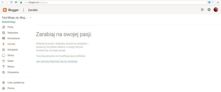 jak założyć bloga na blogspot - zarabiaj z google Adsense