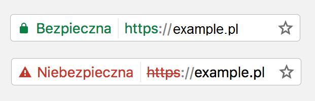 brak certyfikatu ssl to niebezpieczna strona