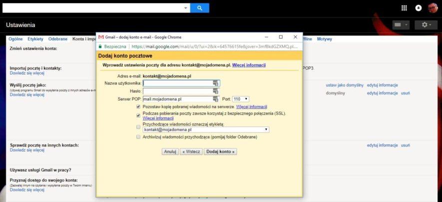 przekierowanie maila czyli przekierowanie poczty na gmail część 4