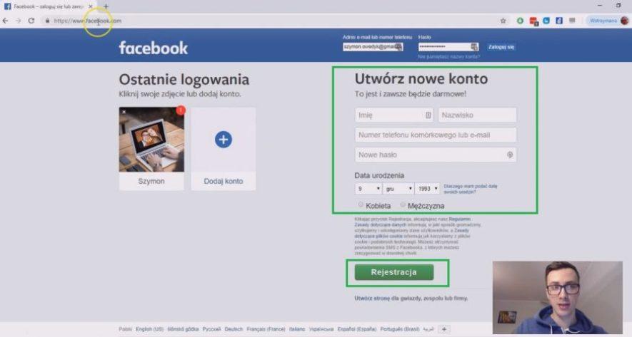 jak założyć konto na facebooku czyli utworzyć konto fb