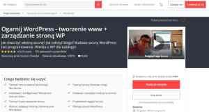 kurs online Ogarnij WordPress i tworzenie stron www, zarządzane stroną WP CMS