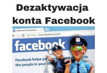 Dezaktywacja konta Facebook