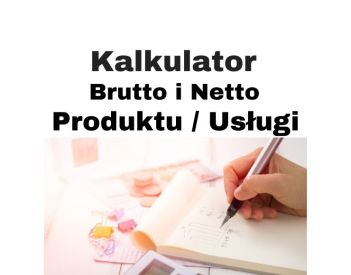 Kalkulator brutto netto VAT produktu / usługi