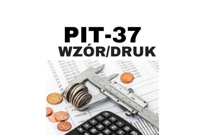 PIT 37 PDF - druk i wzór - zeznanie roczne dla Freelancera
