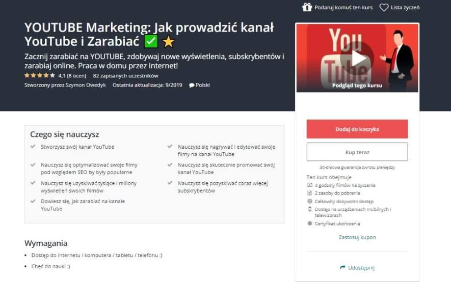 Kurs online Jak prowadzić kanał YouTube i na nim zarabiać?