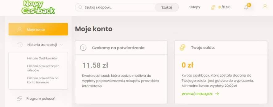 Oszczędzanie na zakupach online przez program NowyCashback