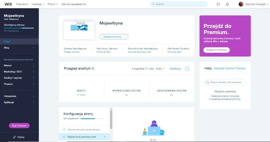 tworzenie stron wix krok po kroku kurs online