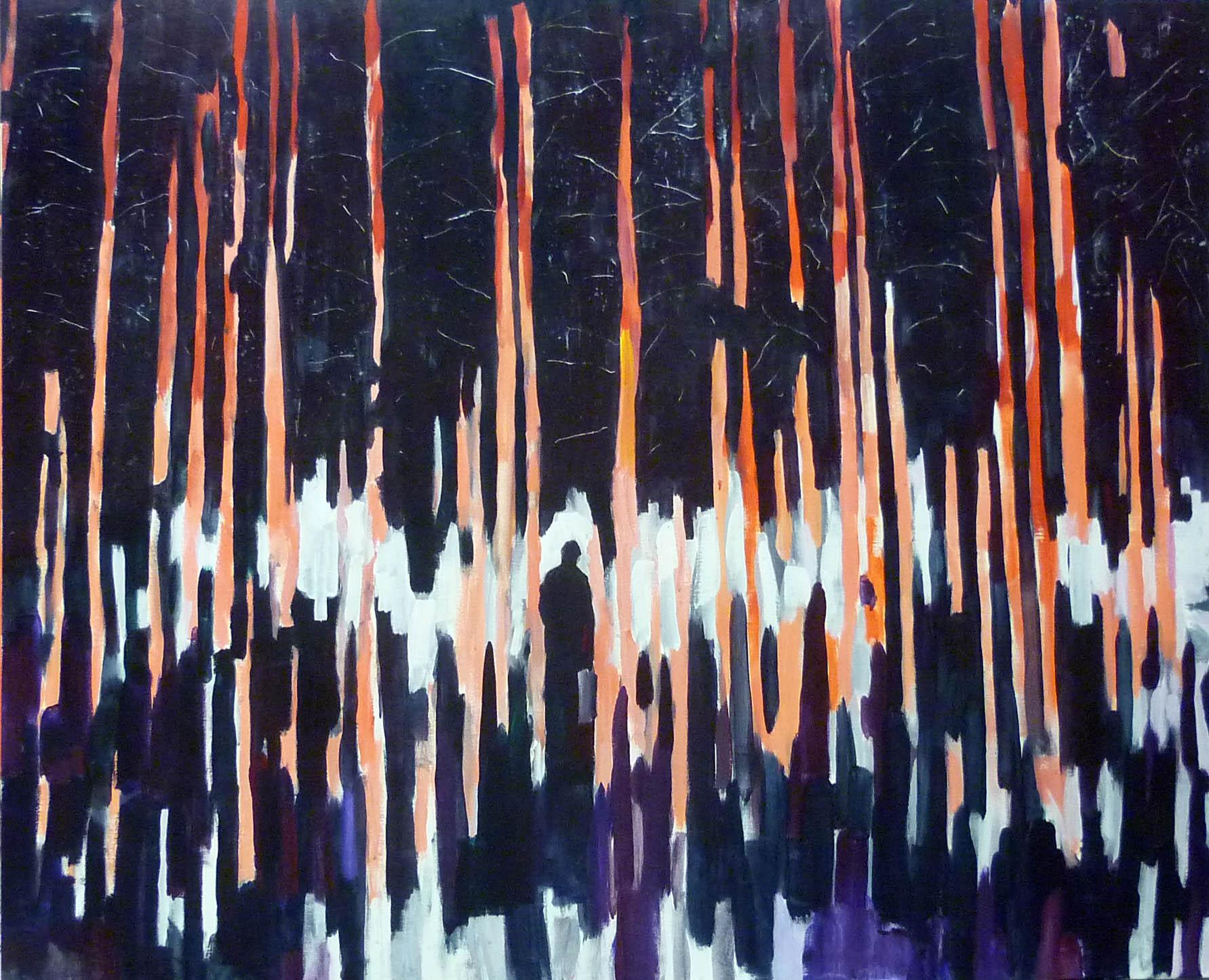 pahorkatina Kulmaaskylä-Kahvia / Kulmaaskylä-Kahvia hill, akryl na plátně / acrylic on canvas, 185x150 cm, 2012
