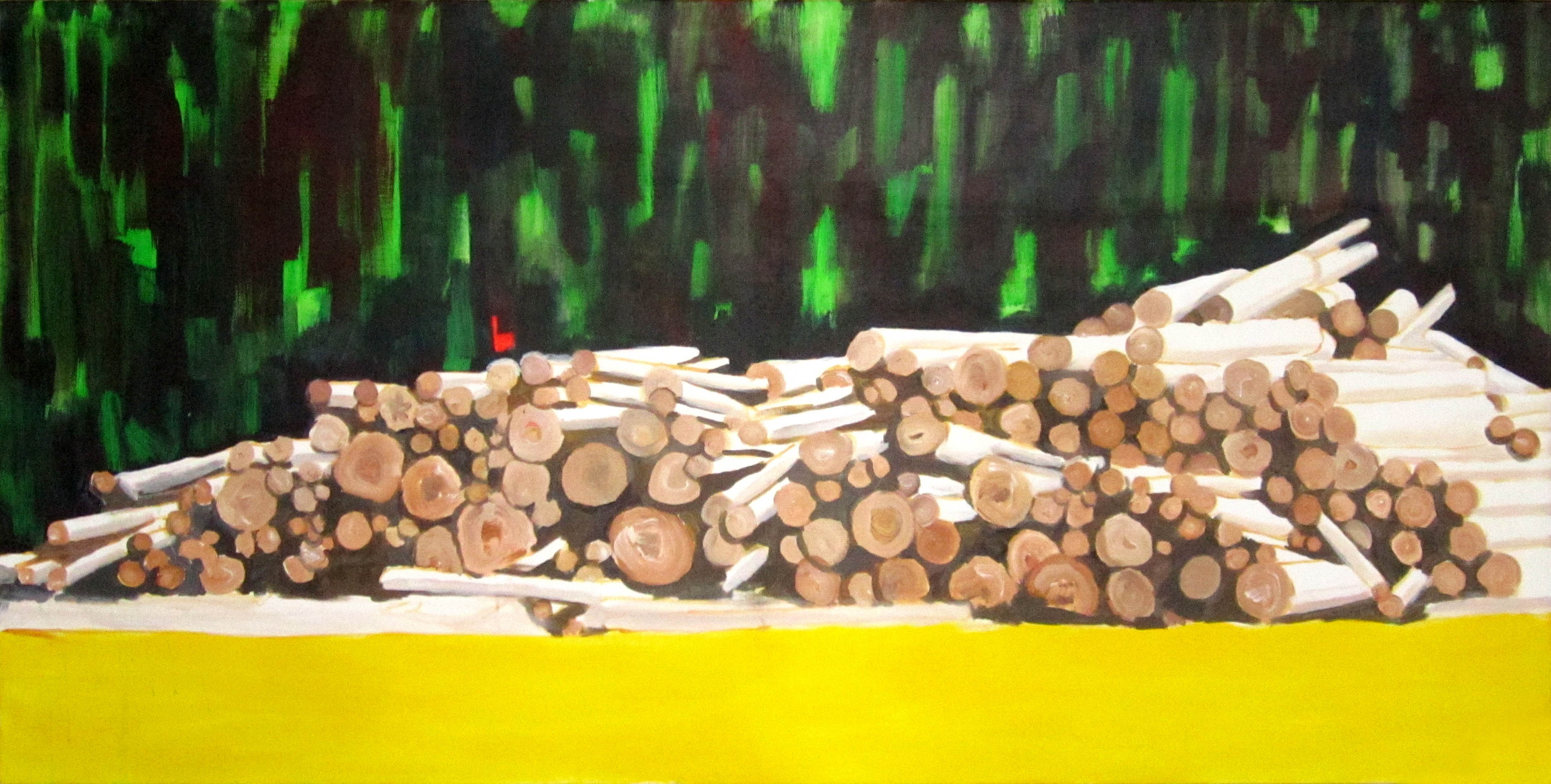 dřevo 2 / wood 2, 190x95 cm, akryl na plátně / acrylic on canvas, 2013