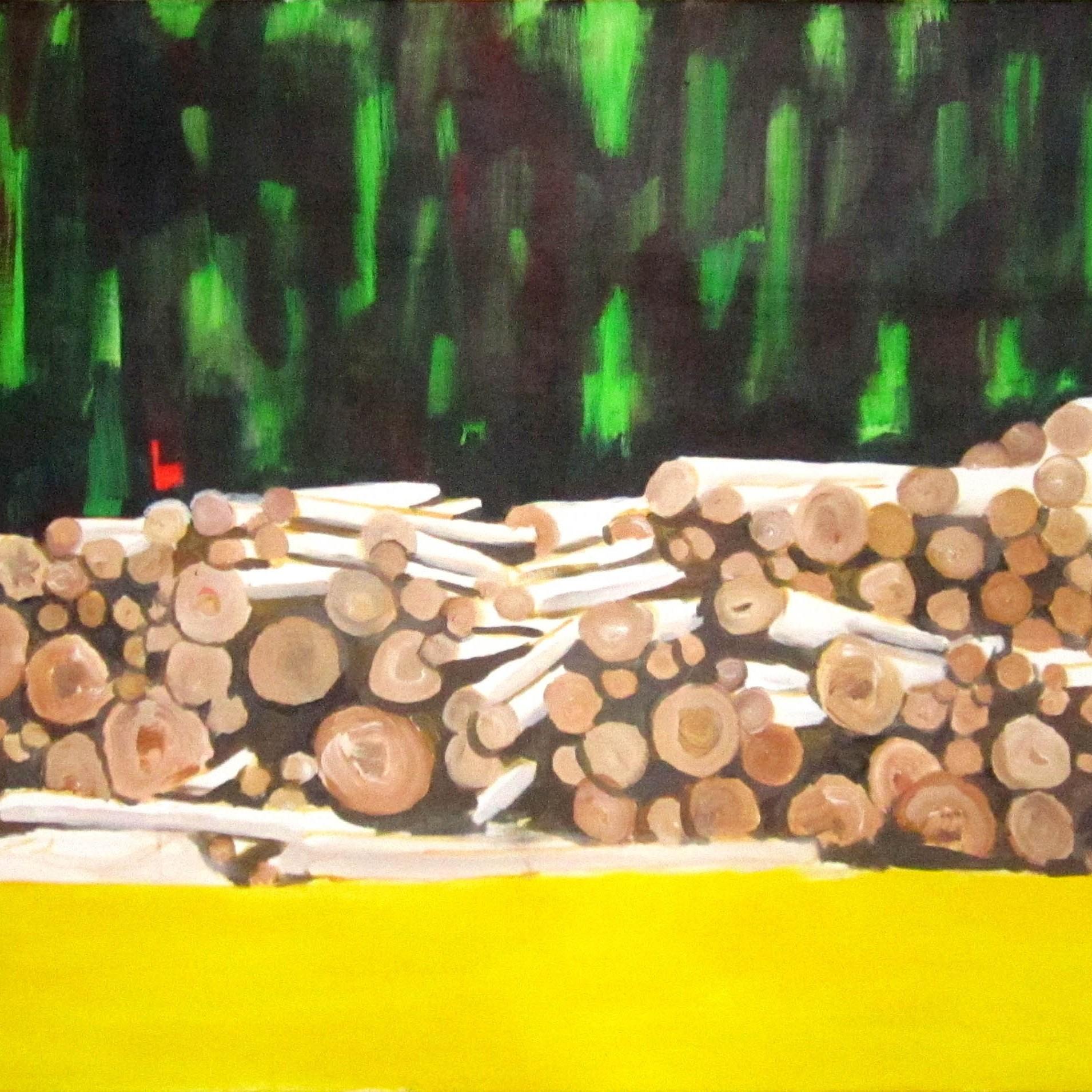 dřevo 2 / wood 2, 190x95 cm, akryl na plátně / acrylic on canvas, 2013