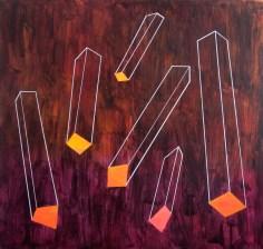 hranoly v2.0 / prisms v2.0, 200x190 cm, akryl na plátně / acrylic on canvas, 2014