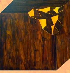 rozbité těžítko 2 / broken paperweight 2, 95x100 cm, akryl na plátně / acrylic on canvas, 2014
