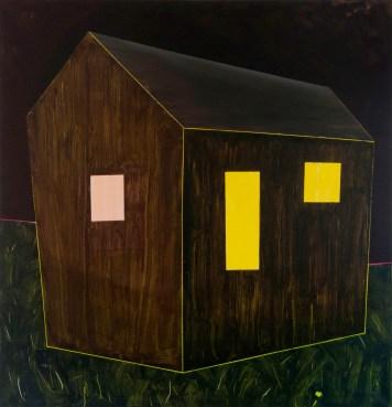 hájovna 2 / gamekeeper's house, 130x135 cm, akryl na plátně / acrylic on canvas, 2015