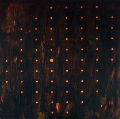 rastr / raster, 160x160 cm, akryl na plátně / acrylic on canvas, 2015