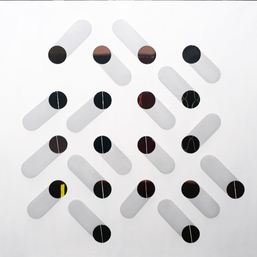 klády / timbers, 100x95 cm, akryl na plátně / acrylic on canvas, 2019
