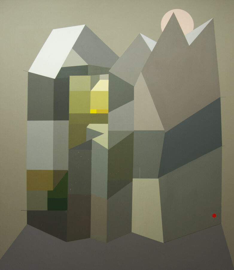 hrozivý tát, 190x165 cm, akryl na plátně / acrylic on canvas, 2020