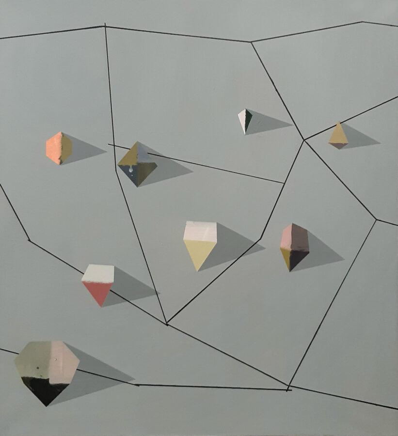 plánek jaspisového pole, 115x105 cm, akryl na plátně / acrylic on canvas, 2020