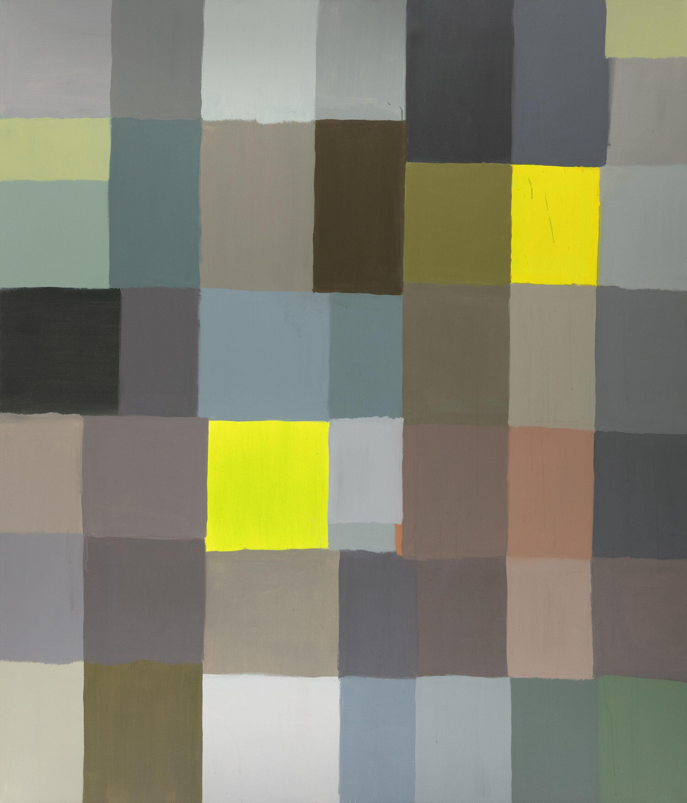 třináct čtrnáct devatenáct / thirteen fourteen nineteen, 190x165 cm, akryl na plátně / acrylic on canvas, 2021