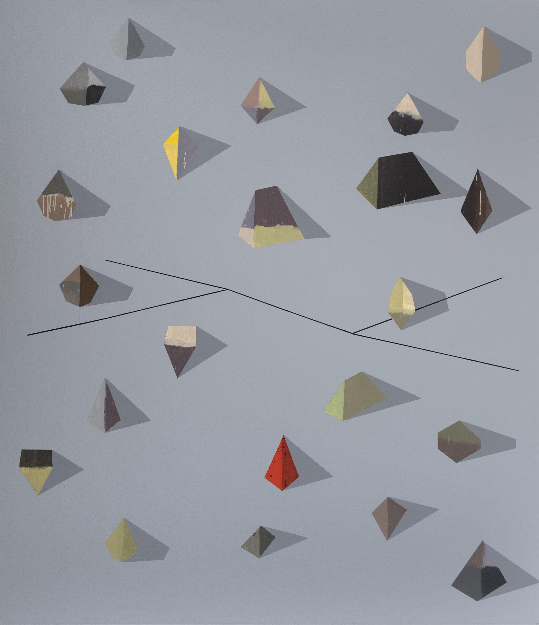 nevědomé naleziště diamantů / unconscious field of diamonds, 190x165 cm, akryl na plátně / acrylic on canvas, 2021