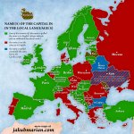 Names Of European Capitals In Local Languages