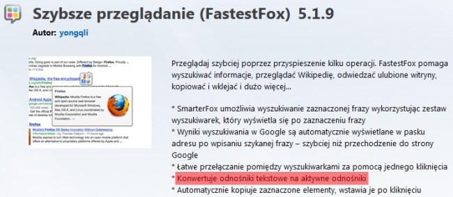 Fastest Fox   smarterwiki-linkify