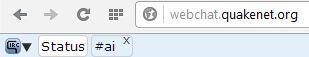 Własny kanał IRC - Okno statusu