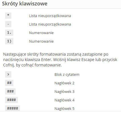 "Skróty klawiszowe | WordPress 4.5 ""Coleman"""