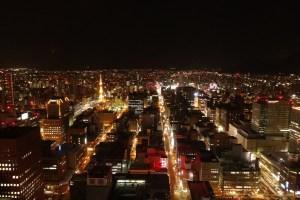 札幌市内の夜景