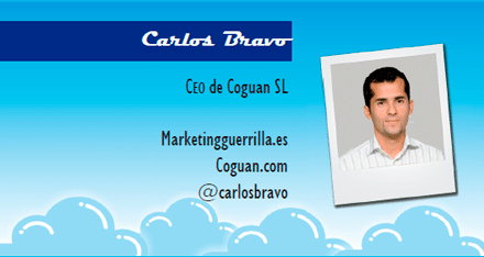 El perfil emprendedor de: Carlos Bravo, marketingguerrilla.es