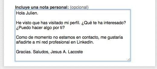 visita perfil en linkedin