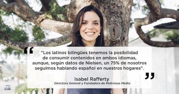 Isabel Rafferty, publicidad móvil
