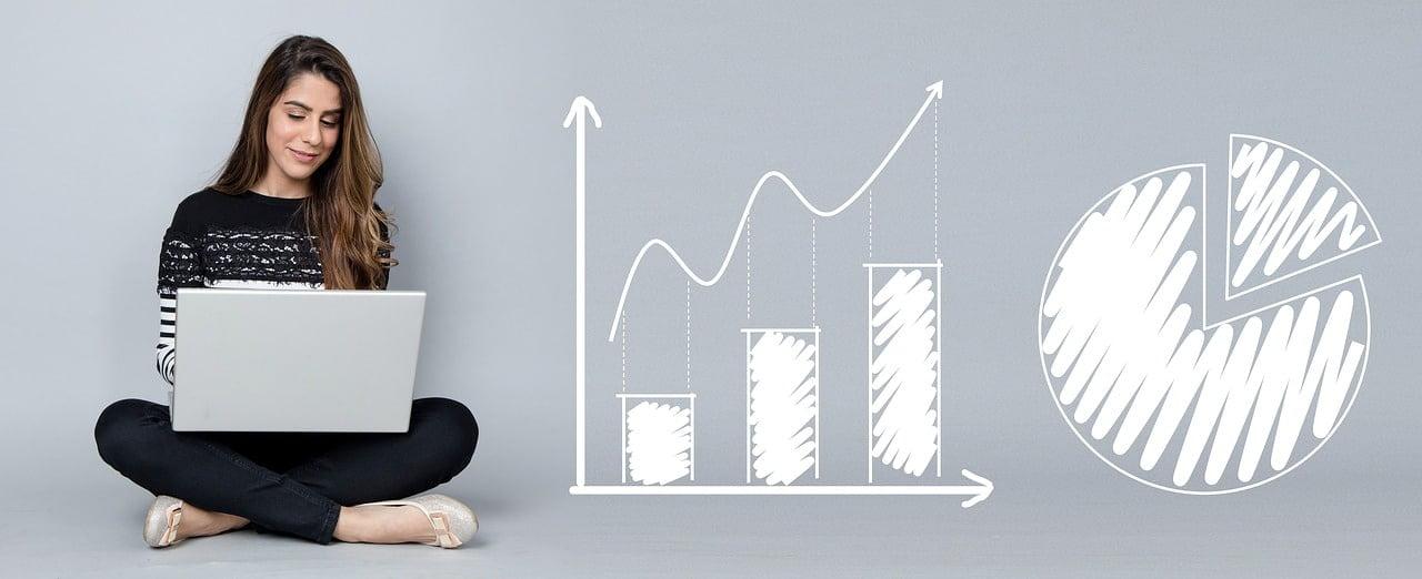 analytics, charts, business